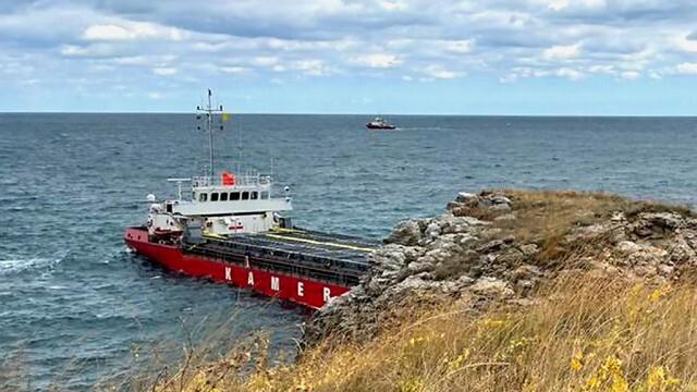 Европейската агенция за морска безопасност не откри замърсяване около заседналия кораб