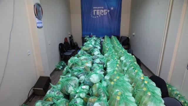 ГЕРБ-Русе раздаде 300 хранителни пакета на нуждаещи се семейства