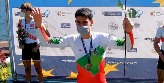 Русенският гребец Лазар Пенев стана европейски шампион