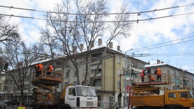 Плевен: Затварят още едно кръстовище заради ремонта на контактната мрежа