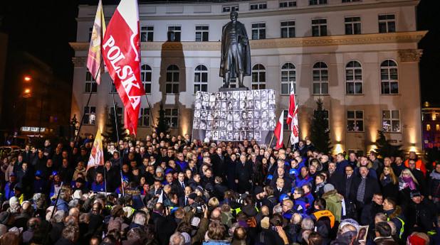 Хиляди блокираха парламента в Полша