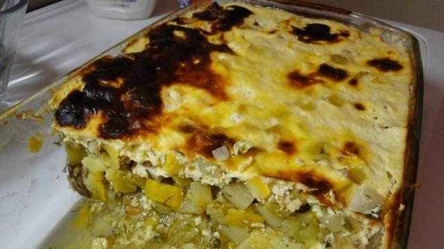 Постна мусака с тиквички и картофи