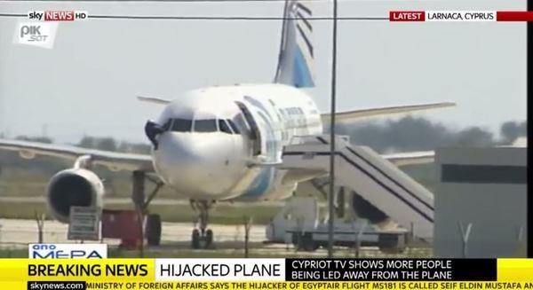 Похитителят на египетския самолет арестуван