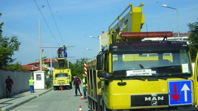 Плевен: Вървят довършителни работи по новите тролейбусни линии